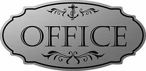 """Stainless Steel color """"Office"""" Nautical Door Sign - Free Shipping"""