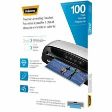 Fellowes Thermal Laminating Pouchessheets 9 X 115 3mil Pack Of 100