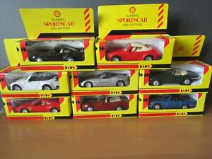 SHELL CLASSIC SPORTSCAR COLLECTION X 8