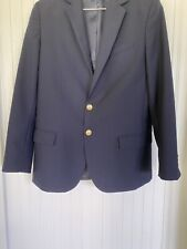 Lands' End Boys Deep Navy Blue Hopsack Blazer Size 16
