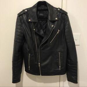 Barney's Original Quilted Real Leather Biker Jacket