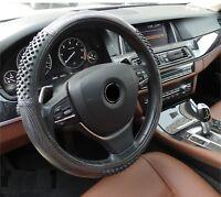 Coprivolante Presa Comfort Per Volante Auto Carbone Pvc Diametro ~38cm