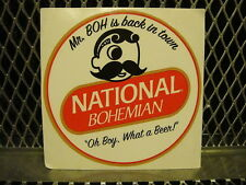 """NATTY BOH ~ National Bohemian Beer ~ NEW ~ STICKER 4"""" Decal ~ Mr BOH Is Back"""