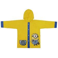 Minion Stuart Kinder Poncho gelb Regenjacke mit Kapuze Jacke Größe 128