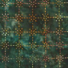 Enchanted 2-Meadow Batik-Robert Kaufman-BTY-Green Tone on Tone B/G