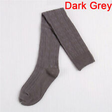 Lady's Wool Braid Over Knee Socks Thigh Highs Hose Stockings Twist Warm Winter O Light Grey
