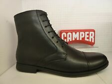 Camper K400418-001 Opium 1913 Black Leather Lace Up Ankle Boot Shoe