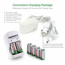 Smart Charger + 6 pcs RCR123A 3.0V 400mAh LiFePO4 Rechargeable Battery