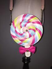 Betsey Johnson Lollipop Crossbody Shoulder Bag Purse Rare