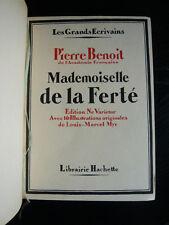 Benoit-Mademoiselle de la Ferté-1932-Il. L.-M. Myr-Baudier-Les grands écrivains