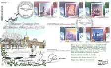 Flown Christmas 1988 Cover From Guinea Pig Club With Autograph My Ref 480