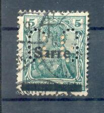 Saar Firmenlochung Perfin Gg Postmarked (A9468
