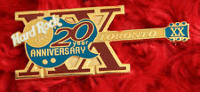 Hard Rock Cafe Pin TORONTO 20th anniversary GUITAR xx lapel hat logole