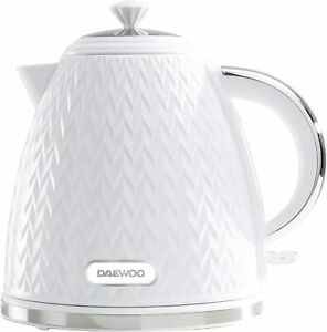 Daewoo Argyle Patterned 1.7L Kettle Washable Limescale Filter Auto Switch White