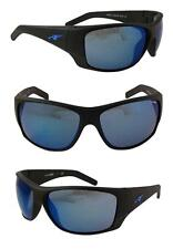 ARNETTE HEIST2 SUNGLASSES  AN4215-05  MATTE BLACK FRAME BLUE MIRROR LENSES NEW