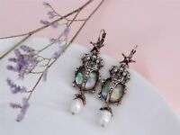 Earrings Insect Scarab Pearl Culture Star Skull X25