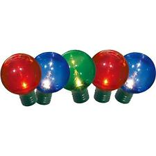 60 Holiday Time Christmas Lights Multi-Color G40 16 Function Green Wire Nib