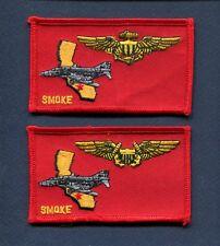 VMFA-134 SMOKE USMC MARINE CORPS F-4 PHANTOM Fighter Squadron Name Tag Patch Set