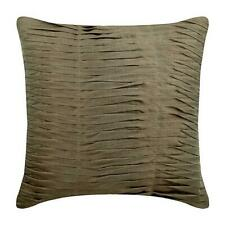 26x26 inch Pillow Decorative Brown Silk, Pintuck - Champagne Brown Waves