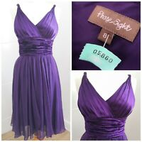 Phase Eight women's purple Grecian Occasion Silk evening Dress Size 8