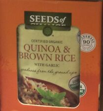 YOU GET TWO (2) BOXES Organic Quinoa and Brown Rice with GARLIC Seeds of Change