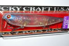 "lucky craft sammy 128 topwater lure 5"" 1oz floating aurora pro blue walk the dog"