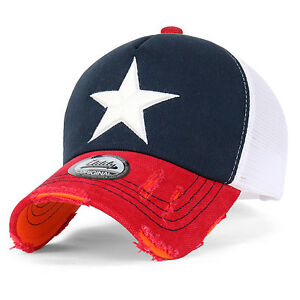 ililily Star Embroidery Black White Trucker Hat Adjustable Cotton Baseball Cap