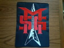 MSG,SEW ON RED AND WHITE EMBROIDERED LARGE BACK PATCH