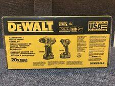 NEW DeWalt DCK290L2 20V MAX Li-Ion Hammerdrill Impact Driver Cordless Combo Kit