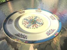 """Black Knight Tangiers Dinner Plate with Floral Design, 9 1/4"""" in diameter"""