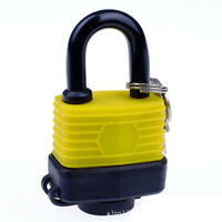 "Yellow 1-1/2"" Keyed alike Padlocks Padlocks Keyed Alike Laminated Steel Padlocks"