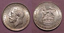 Chelín Rey George V 1911-moneda de grado superior con Lustre