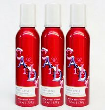 3 Bath & Body Works WINTER CANDY APPLE Whipped Shimmer Body Mouse Cream Lotion