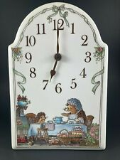 Villeroy & Boch Foxwood Tales Vintage Porcelain Hedgehog Clock Perfect Condition