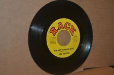 JOE GRAVES: IT'S GOT TO BE FOR REAL & BABY IF YOU WERE GONE; RACK 103 MINT- 45
