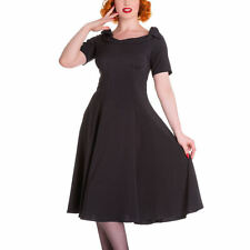 Hell Bunny Patternless Synthetic Dresses for Women