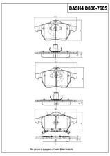 Disc Brake Pad Set-Rear Drum Front Dash 4 Brake CD800