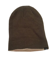 NEW VANS Men Core Basics Winter Cuffed / Slouch Knit Beanie Hat Cap , Brown