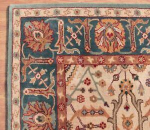 New Eva Oriental Blue & Beige Oushak  HandTufted 100% Wool Soft Area Rug Carpet