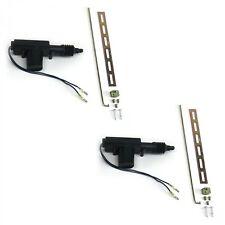 2 Universal Power Door Lock Actuators Compatible w/ Keyless Entry Alarm Pair USA