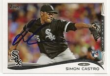 Simon Castro Chicago White Sox 2014 Topps Signed Card