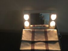 Vintage Jerdon Mirror Go Lightly Tilting 2-sided Vanity Magnify Mirror 4 Lights