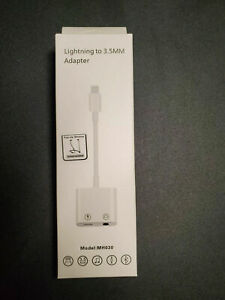 Lightning To 3.5mm Headphone Jack AUX Adapter Dongle for Apple iPhone CALL/MUSIC