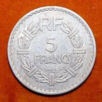 KM# 888b.2 - 5 Francs - France 1945B (F)