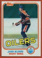 1981-82 Topps #18 Jari Kurri ROOKIE RC Pack Fresh MINT Edmonton Oilers FREE S/H