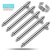 10pcs Watch Strap Quick Release Spring Bars Pins 18mm 20mm 22mm -Stainless Steel