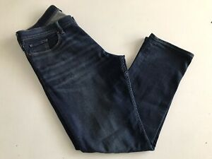 DC SHOE CO USA Blue Stretch Denim Straight Leg Jeans Mens W36 L30