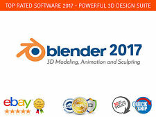 Blender 2017 3D Design Suite - Modeling, Animation, Sculpting + FREE BONUS DVD