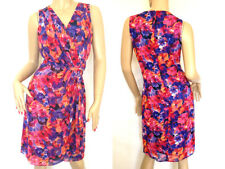 Kaleidoscope~ Deep Colour Floral Print Chiffon Dress ~ Size 14 ~ rrp £85 ~ (R10)