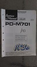 Pioneer pd-m701 service manual original repair book stereo cd player